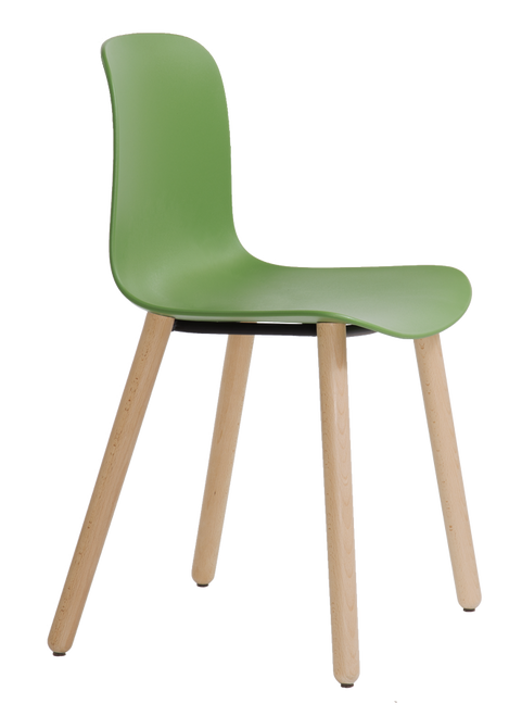 Flux 4 Leg Wood Guest Chair May Green