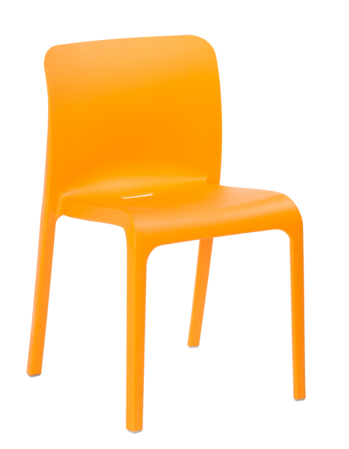 Pop 4 Leg Guest Stacking Chair Deep Orange