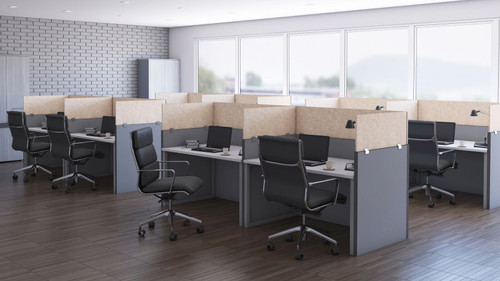 OBEX Desk & Cubicle Clamp Mount Eco Acoustical Panels  in Sand