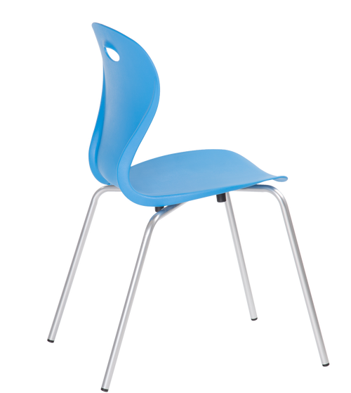 Lotus 4 Leg Guest Stacking Chair Sky Blue