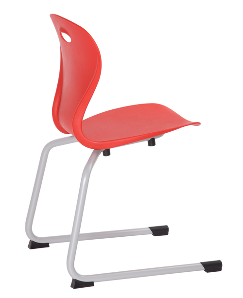Lotus Cantilever Base Guest Stacking Chair Pure Red