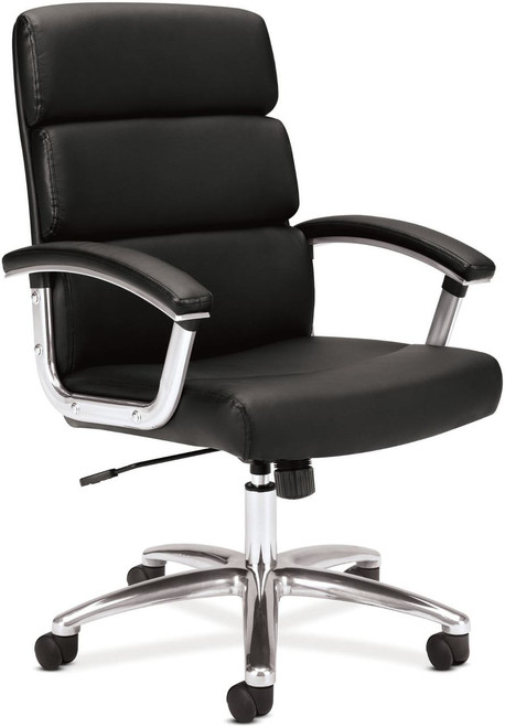 Hon Leather Executive Mid Back Chair Black SB11