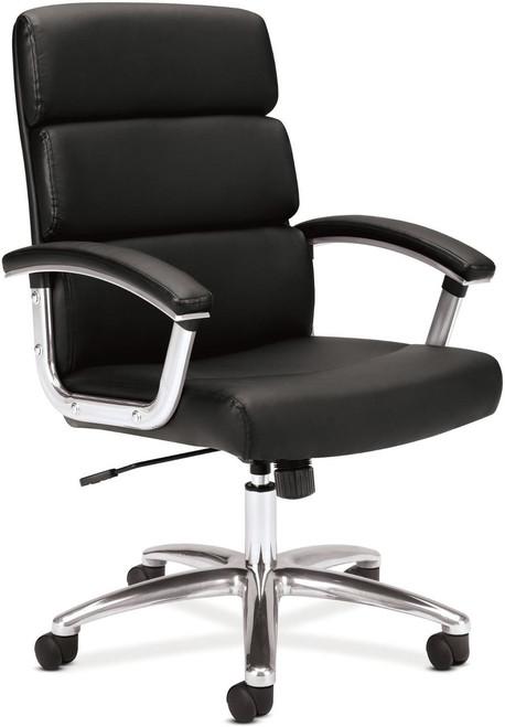 Hon Leather Executive Mid Back Chair Black SB11