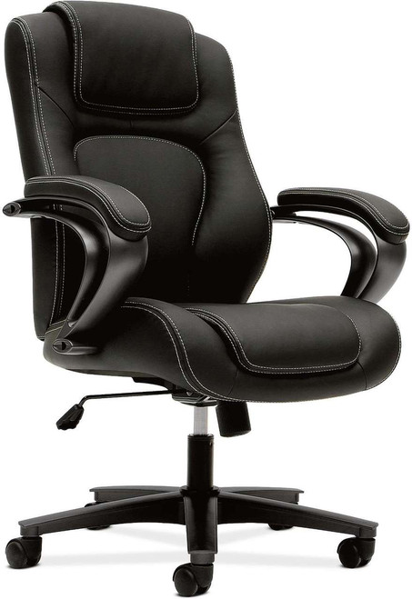 Hon Vinyl Leather Executive High-Back in black vinyl