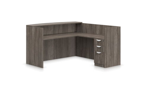 Offices To Go SL-O Reception Desk in Artisan Grey
