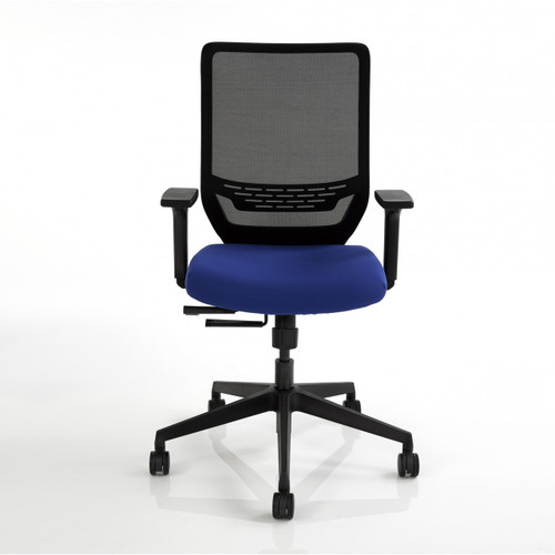 Sync2 Task Chair with black mesh back and Blue Ray seat