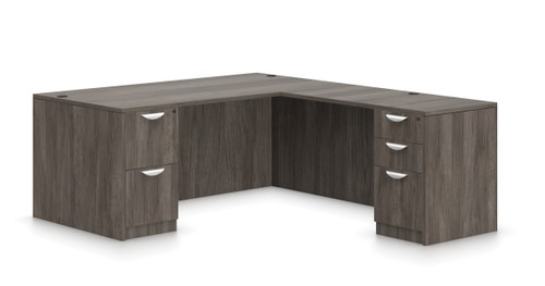 Offices To Go SL-S Executive L Desk in  Artisan Grey