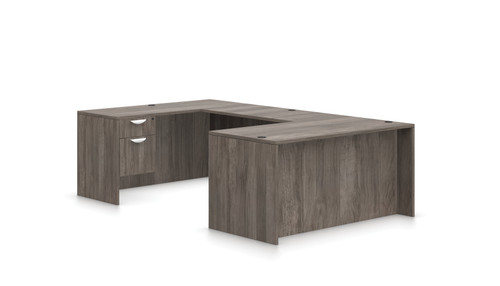 Offices To Go SL-A Executive U Desk Suite in Artisan Grey