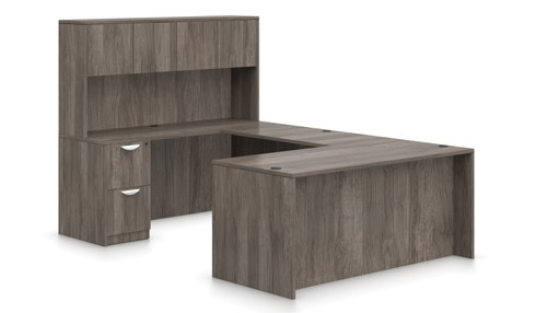 Offices To Go SL-B Executive U Desk Suite in Artisan Grey