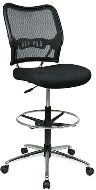 Deluxe AirGrid® Back Stool with Chrome Accents