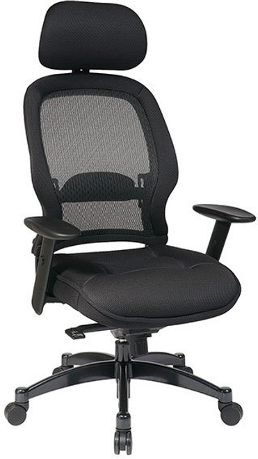 Mesh Seat and Back Managers Chair with Headrest