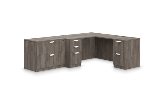 "Offices To Go SL-N 66"" L Desk Suite in Artisan Grey"