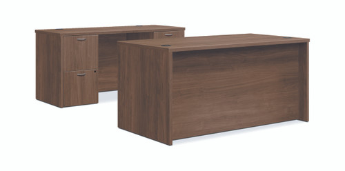 "Hon Foundation 60"" Desk and Credenza Workstation in Pinnacle"