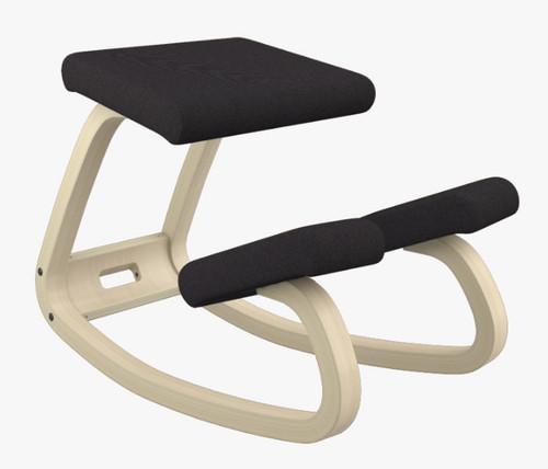 Varier balans Kneeling Chair Natural Ash Frame Revive Black fabric