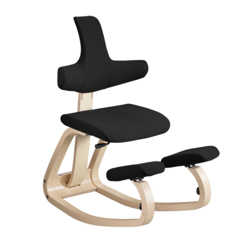 Varier Thatsit balans Chair in Natural Frame Black Step Fabric (limited quantity)