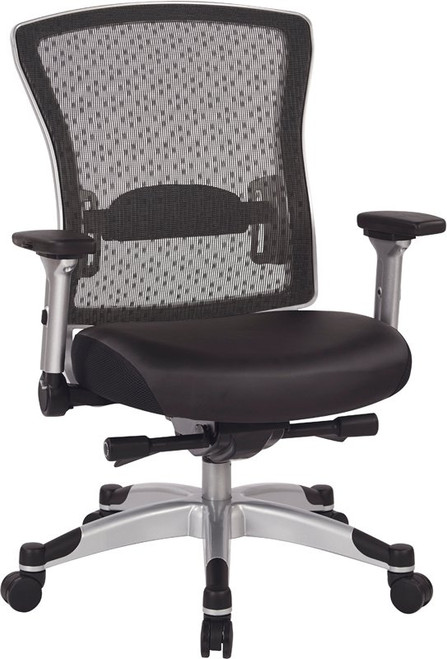 Professional R2 Spacegrid Back Chair with Memory Foam Leather Seat