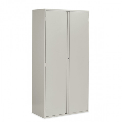 "Concealed Pull 72"" Metal Storage Cabinet, Light Grey LGR"