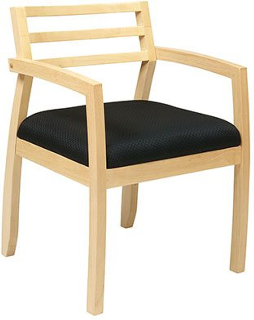 Napa Guest Chair with Wood Back in Maple Finish