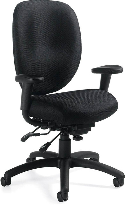 Offices To Go Multi-Function Mid-Back Chair with Height Adjustable Lumbar Support