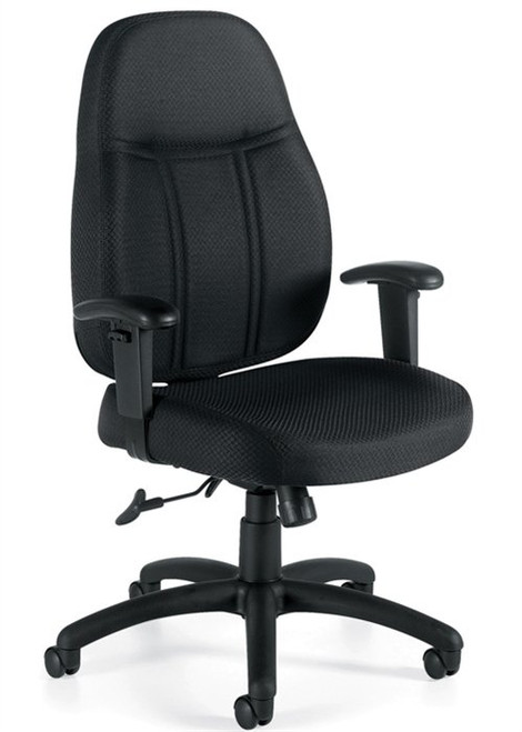 Offices To Go High Back Tilter with Height Adjustable Arms