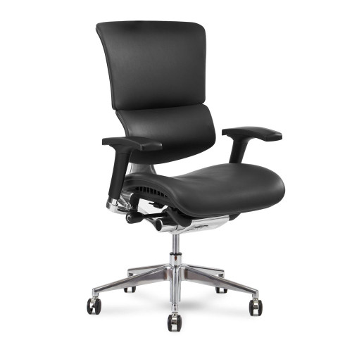 Genuine Black leather w/ a memory foam seat upgrade