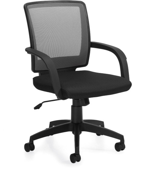 Offices To Go Mesh Back Executive Chair with Molded Arms