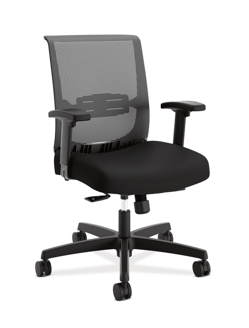 Hon Convergence Mid-Back with Synchro-Tilt Control, Black Fabric ACCF10