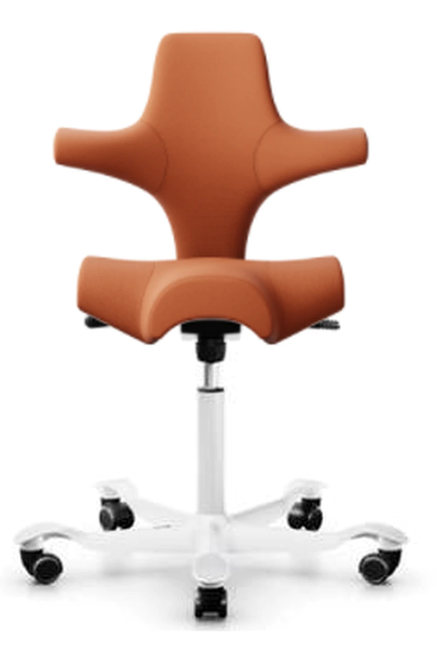 HAG Capisco H8106 Saddle Seat with Select 63102 fabric White Base Quickship