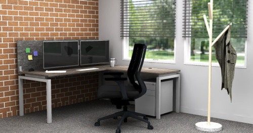Clear Design Home Office Bundle C with Blade L-Shaped Desk