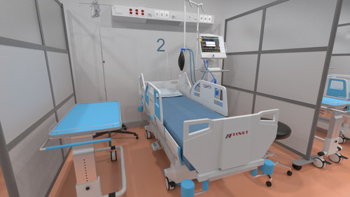 Loftwall Medical Pop-Up Room Dividers for make-shift hospital rooms