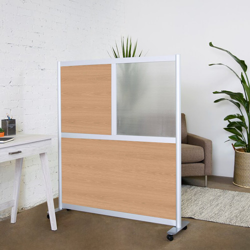 "Loftwall 52""W Framewall Room Dividers, 53""H Oak"