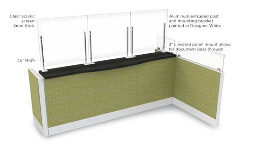 Global Wellness Screen, Clamp On are perfect for reception areas