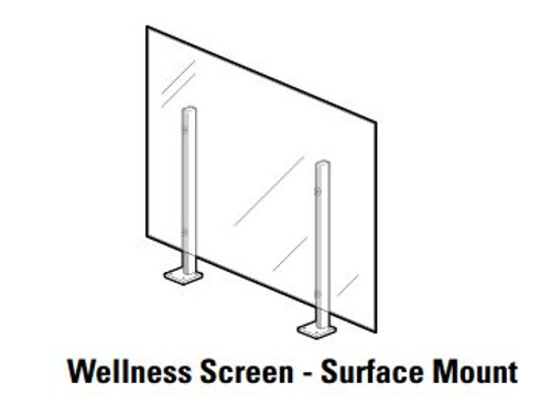 Global Wellness Screen, Surface Mount with flat screw-down bracket
