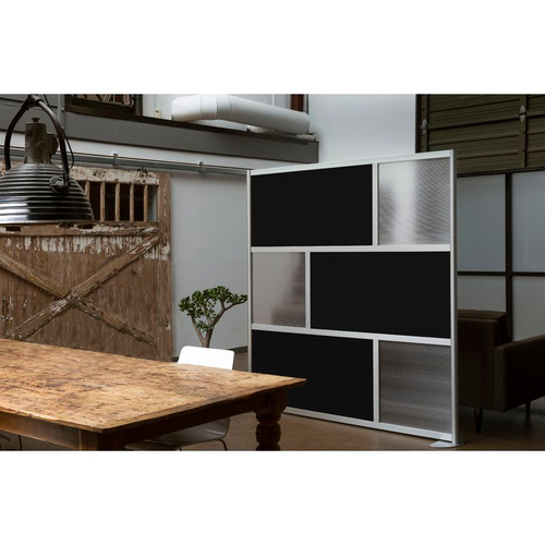 "Loftwall 76""W Framewall Room Dividers, Black 78""H"