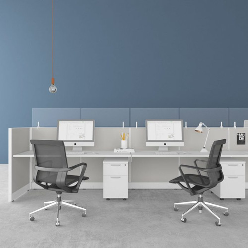 Fríant Clear Framelss Glass Cubicle Toppers for any office work area