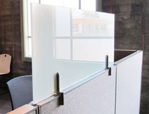 Fríant Frosted Framelss Glass Cubicle Extenders