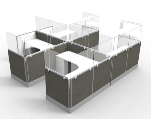 Fluid Concepts Upmount Frameless Cubicle/Panel Mount Extenders