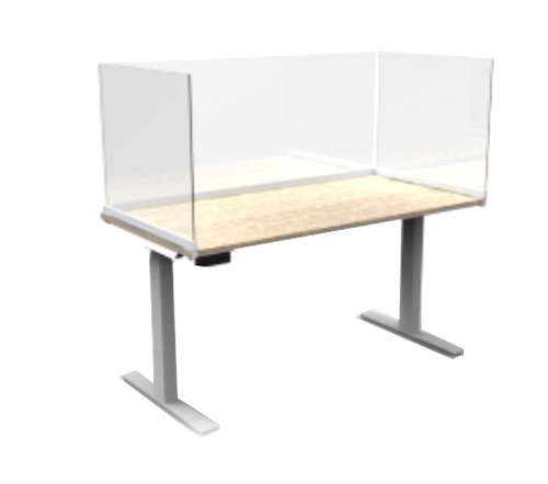 Fluid Concepts Upmount Frameless Desk or Worksurface Mount Extenders