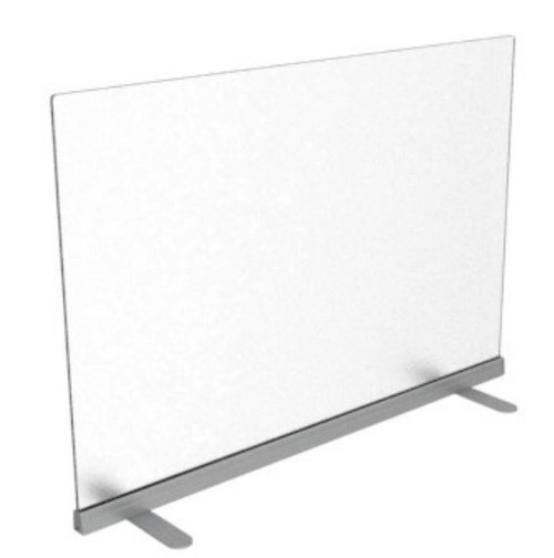 Fluid Concepts Upmount Frameless Freestanding Desk Panels