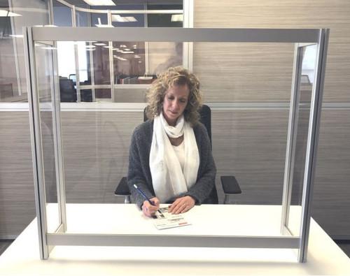 Fluid Concepts Protective Desk Transaction Screen Enclose Model
