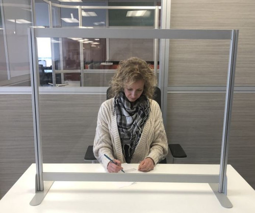 Fluid Concepts Protective Desk Transaction Screen Linear Model