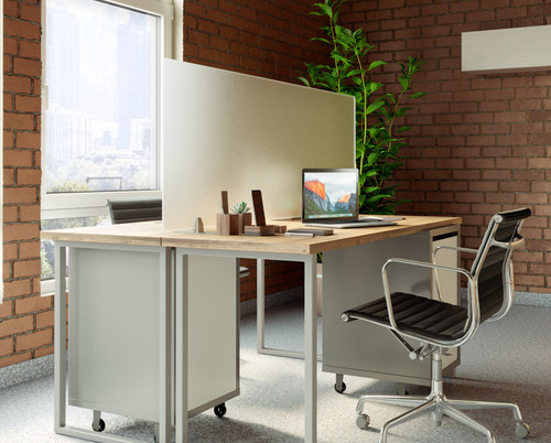 OBEX Freestanding Acrylic Protection Screens, frosted