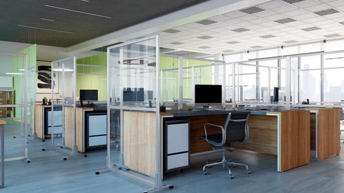 OBEX Freestanding Floor Acrylic Protection Screens