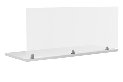 """Special-T Acrylite Screw-In Protection Screens for Worksurfaces and Cubicles 24""""H"""