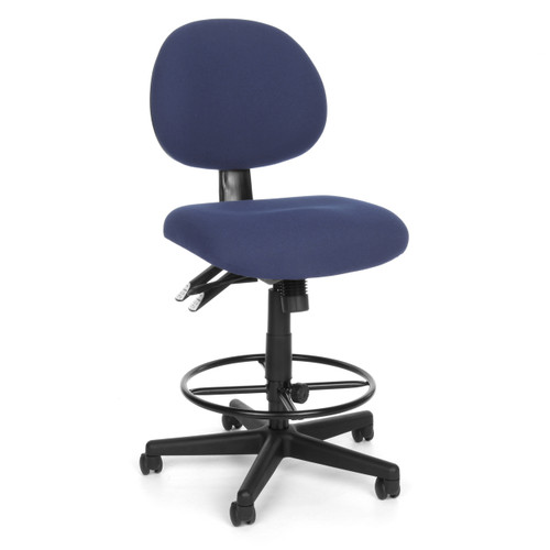 OFM  24 Hour Synchro-Tilt Task Stool in Blue Fabric 202