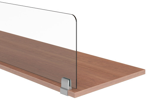 AIS Lexan Worksurface Privacy Screens with C-Clamp Under Surface Mounts
