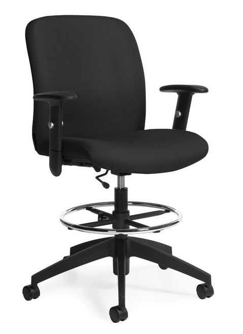 Truform Medium Back Heavy Duty Drafting Stool with footring