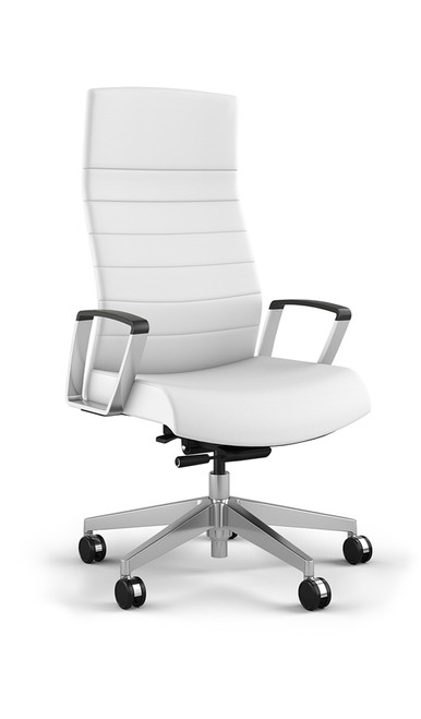 @NCE Contemporary White Vinyl Conference Chair