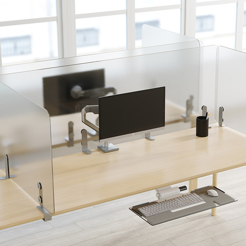Humanscale Wellguard Separation Panels for Worksurfaces, clear
