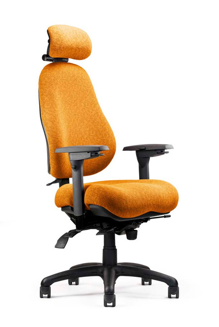 Neutral Posture 8600 Medium Contour Seat Ergonomic Task Shown w/ optional headrest